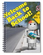 Back To School Little Robox9 Spiral Notebook