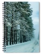 Bad Road Conditions While Driving In Winter Spiral Notebook