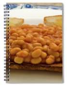 Baked Beans On Toast Spiral Notebook