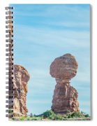 Balanced Rock In Arches National Park Near Moab  Utah At Sunset Spiral Notebook