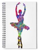 Ballet Dancer-colorful Spiral Notebook