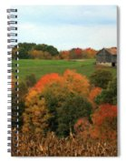 Barn On Autumn Hillside  A Seasonal Perspective Of A Quiet Farm Scene Spiral Notebook