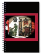 Barry Sadler And Part Of His Weapon's Nazi Memorabilia Collection Collage Tucson Arizona 1971-2013 Spiral Notebook