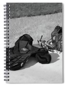 Baseball Glove And Chest Protector Spiral Notebook