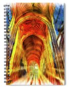 Bath Abbey Sun Rays Art Spiral Notebook