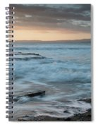 Beautiful Dramatic Sunset Over A Rocky Coast Spiral Notebook