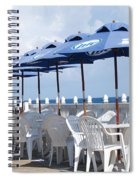 Beer Unbrellas Spiral Notebook