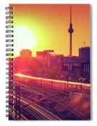 Berlin - Sunset Skyline Spiral Notebook
