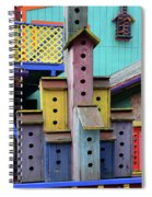 Birdhouses For Colorful Birds 3 Spiral Notebook