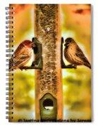 2 Bird's Eating  Spiral Notebook