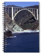 Bixby Creek Aka Rainbow Bridge Bridge Big Sur Photo  Spiral Notebook