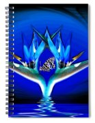 Blue Bird Of Paradise Spiral Notebook