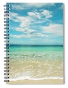 Pristine Blue Paradise Spiral Notebook