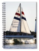 2 Boats Approach Spiral Notebook