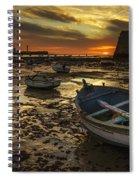 Boats On La Caleta Cadiz Spain Spiral Notebook