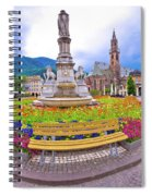 Bolzano Main Square Waltherplatz Panoramic View Spiral Notebook