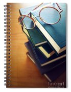 Books And Glasses Spiral Notebook