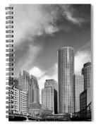 Boston Skyline 1980s Spiral Notebook