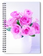 Bouquet Of Pink Roses Spiral Notebook