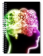 Brain Design By Cogs And Gears Spiral Notebook