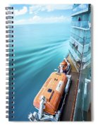 Browsing Around Cruise Ship On The Pacific Ocean Spiral Notebook