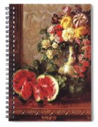 bs- George Henry Hall- Still Life George Henry Hall Spiral Notebook