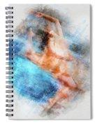 Butterfly Ballerina Watercolor   Spiral Notebook