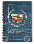 Cadillac 3 D Badge Over Cadillac Escalade Blueprint  Spiral Notebook