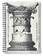 Capital And Base Of A Column Spiral Notebook