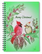 Cardinals Painted By Debbie Woodrow Spiral Notebook