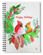Cardinals Painted By Judith Brilhamte Spiral Notebook