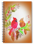 Cardinals Painted By Linda Sue Spiral Notebook