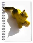Cat Figurine Spiral Notebook