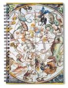 Celestial Planisphere, 1660 Spiral Notebook
