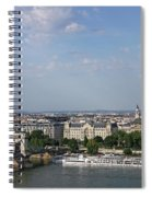 Chain Bridge On Danube River Budapest Cityscape Spiral Notebook