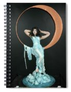 Charles Hall - Creative Arts Program - First Quarter Moon Spiral Notebook