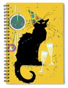 Chat Noir New Years Party Countdown Spiral Notebook