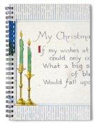 Christmas Postcard Spiral Notebook