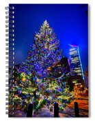 Christmas Tree Near Panther Stadium In Charlotte North Carolina Spiral Notebook