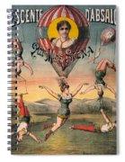 Circus Poster, C1890 Spiral Notebook
