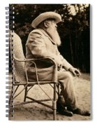 Claude Monet In His Garden Spiral Notebook