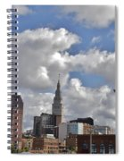 Cleveland Skyline From The Flats River District Spiral Notebook