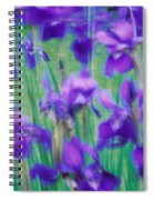 Close-up Of Purple Flowers Spiral Notebook