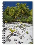 Coconut Palms On A Polynesian Beach Spiral Notebook