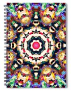 Colorful Concentric Abstract Spiral Notebook