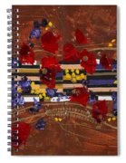Colourful Abstract Painting Spiral Notebook