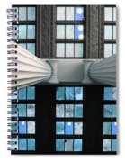 2 Column Stain Blue Spiral Notebook