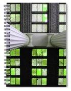 2 Column Stain Green Spiral Notebook