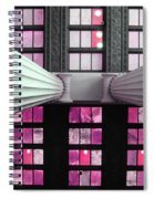 2 Column Stain Pink Spiral Notebook