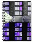 2 Column Stain Purple Spiral Notebook